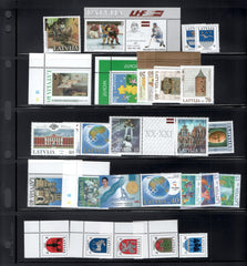 2000 Latvia Year Set + Definitives (MNH)