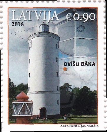 #945 Latvia - 2016 Ovīši Lighthouse (MNH)