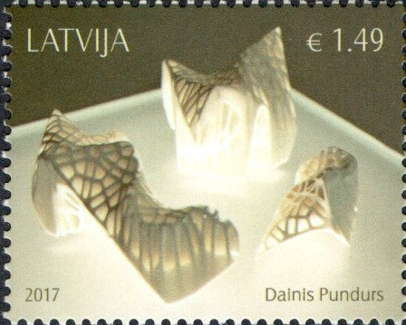 Latvia - 2017 Contemporary Artists: Dainis Pundurs (MNH)
