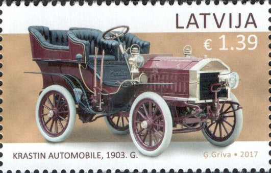 #966 Latvia - 1903 Krastin Automobile (MNH)
