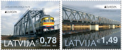 Latvia - 2018 Europa: Bridges, Set of 2 (Pre-Order) (MNH)