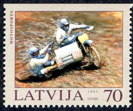 #580a Latvia - Motorcycle Racing, Booklet Single (MNH)