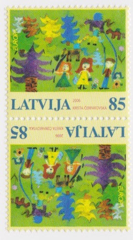 #651a Latvia - 2006 Europa: Integration, Tete-Beche Pair (MNH)