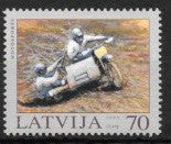 #580 Latvia - Motorcycle Racing (MNH)