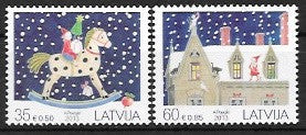 #848-849 Latvia - Christmas (MNH)