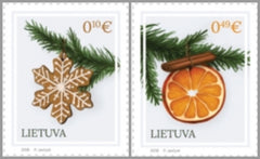 Lithuania - 2018 Holy Christmas and New Year, Set of 2 (MNH)
