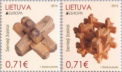 #1050-1051 Lithuania - 2015 Europa: Old Toys (MNH)