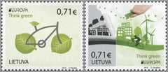 #1078-1079 Lithuania - 2016 Europa: Think Green (MNH)