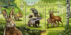 #1112 Lithuania - Animals S/S (MNH)