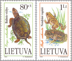 #473-474 Lithuania - Endangered Species (MNH)