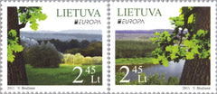 #938-939 Lithuania - 2011 Europa: Intl. Year of Forests (MNH)