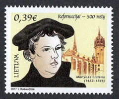 #1092 Lithuania - 2017 Protestant Reformation, 500th Anniv. (MNH)