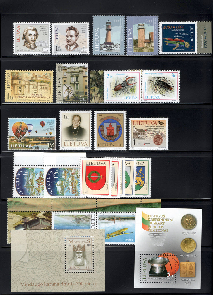 2003 Lithuania Year Set & S/S (MNH)
