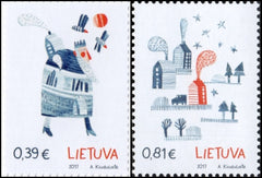 #1115-1116 Lithuania - 2017 Christmas, New Year, Set of 2 (MNH)