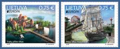 #1126-1127 Lithuania - 2018 Europa: Bridges (MNH)