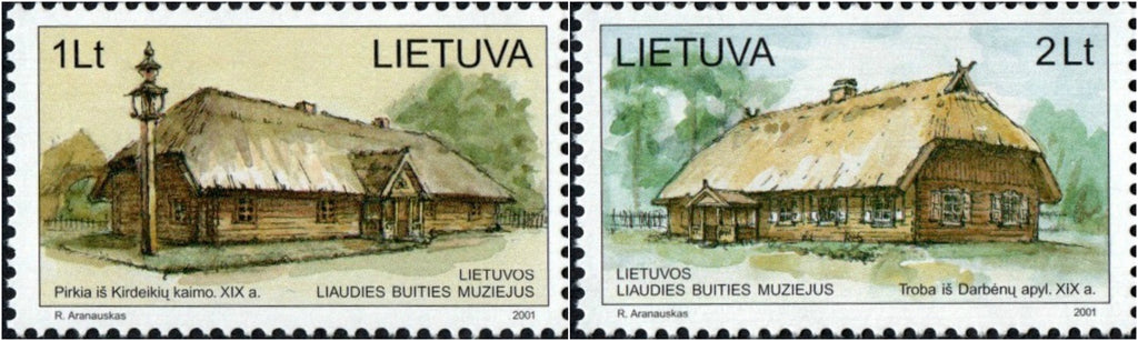 #700-701 Lithuania - Ethnographic Open Air Museum Exhibits (MNH)