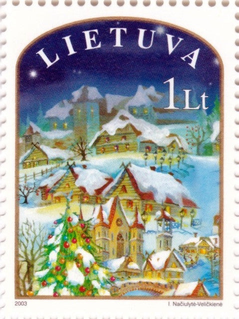 #754-755 Lithuania - Christmas and New Year's Day (MNH)