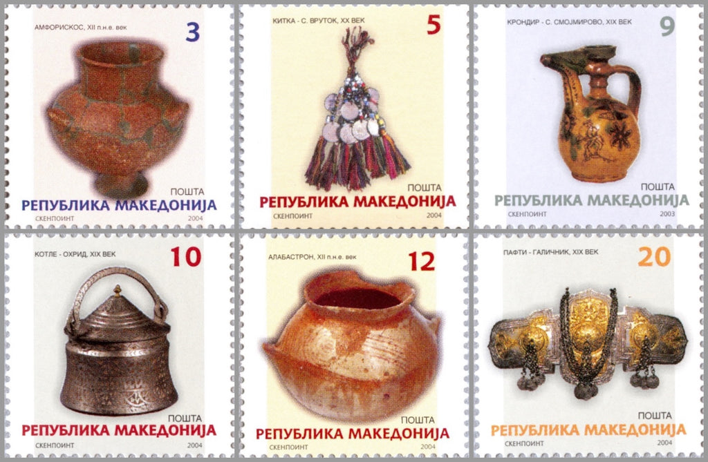 #287-292 Macedonia - Handicrafts (MNH)
