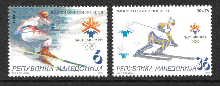 #231-232 Macedonia - 2002 Winter Olympics, Salt Lake City (MNH)