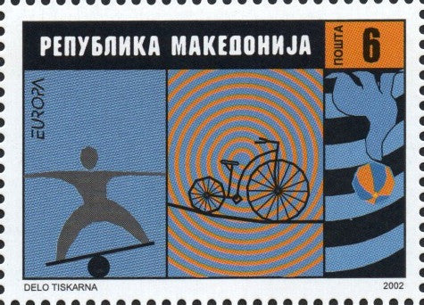 #242-243 Macedonia - 2002 Europa: Circus, Set of 2 (MNH)
