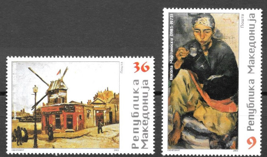 #275-276 Macedonia - Paintings (MNH)