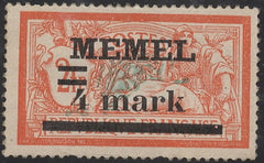#31a Memel - Stamps of France, Surcharge (MNH)
