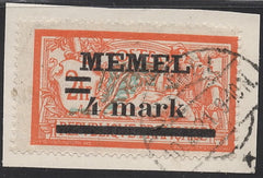 #31a Memel - Stamps of France, Surcharge (Used)