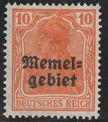 #3 Memel - Stamps of Germany, Overprinted (Used)