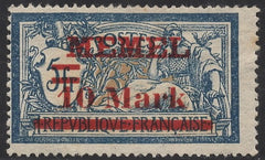 #41 Memel - Stamps of France, Surcharge (MNH)