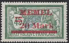 #42 Memel - Stamps of France, Surcharge (MNH)