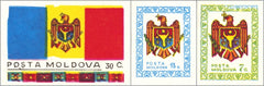 #1-3 Moldova - Coat of Arms, Flag (MNH)