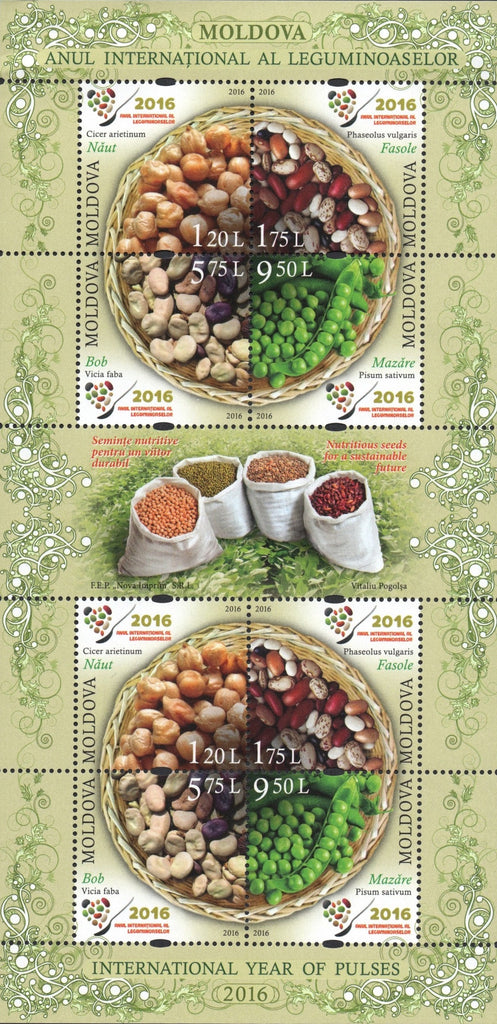 #923 Moldova - 2016 International Year of the Pulses M/S (MNH)