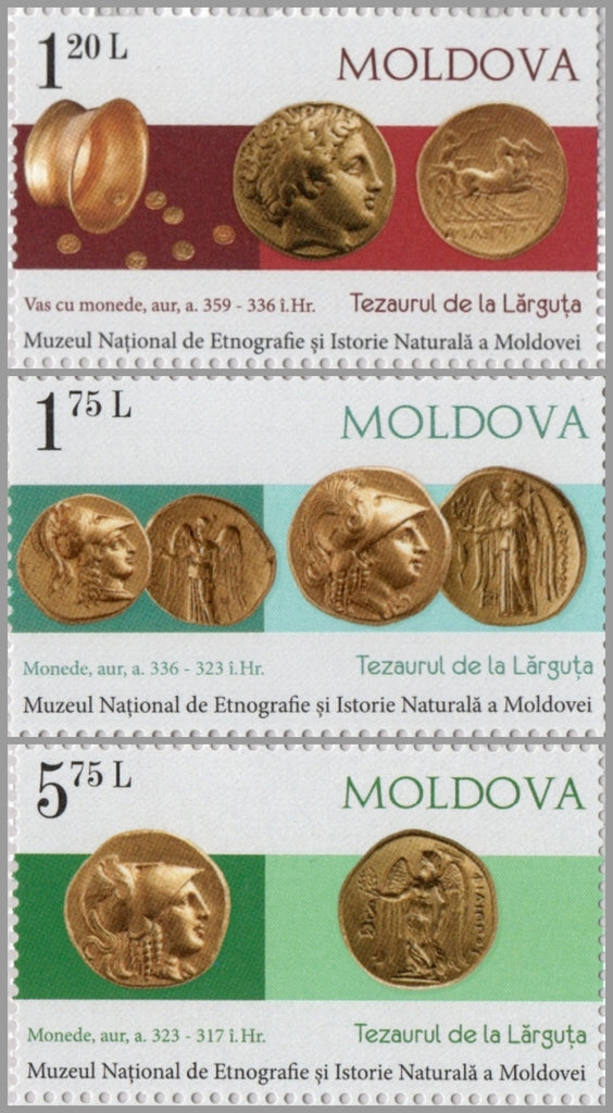 #984-986 Moldova - Ancient Coins From Larguta Treasure, Set of 3 (MNH)