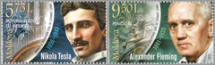 #982-983 Moldova - Nikola Tesla and Alexander Fleming, Set of 2 (MNH)