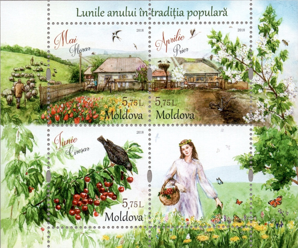#980 Moldova - Months of the Year II S/S (MNH)