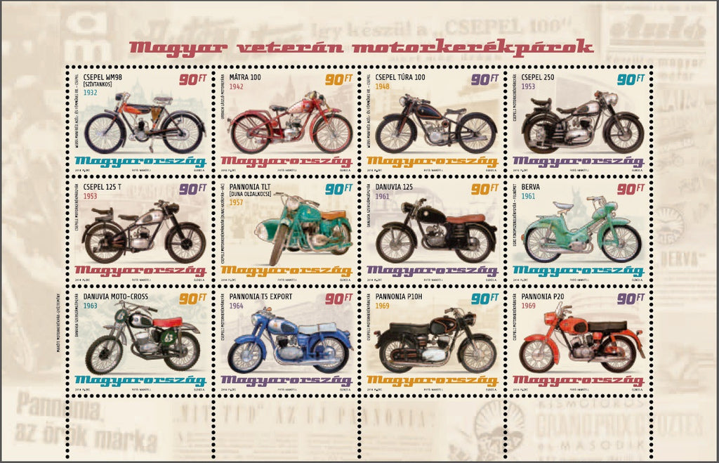 #4332 Hungary - 2014 Motorcycles M/S (MNH)