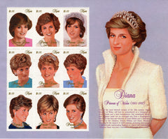 #1030 Nevis - 1997 Diana, Princess of Wales, Sheet of 9 (MNH)