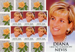 #1096 Nevis - 1998 Diana, Princess of Wales, Sheet of 6 (MNH)