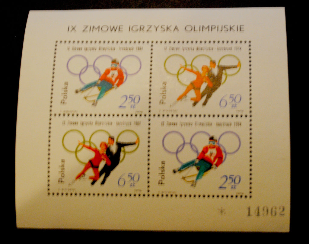 #1203 and 1205 Poland - 9th Winter Olympic Games S/S (MNH)