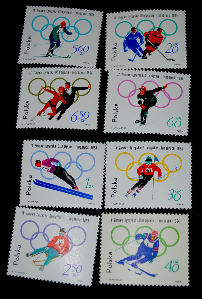 #1198-1205 Poland - 9th Winter Olympic Games (MNH)