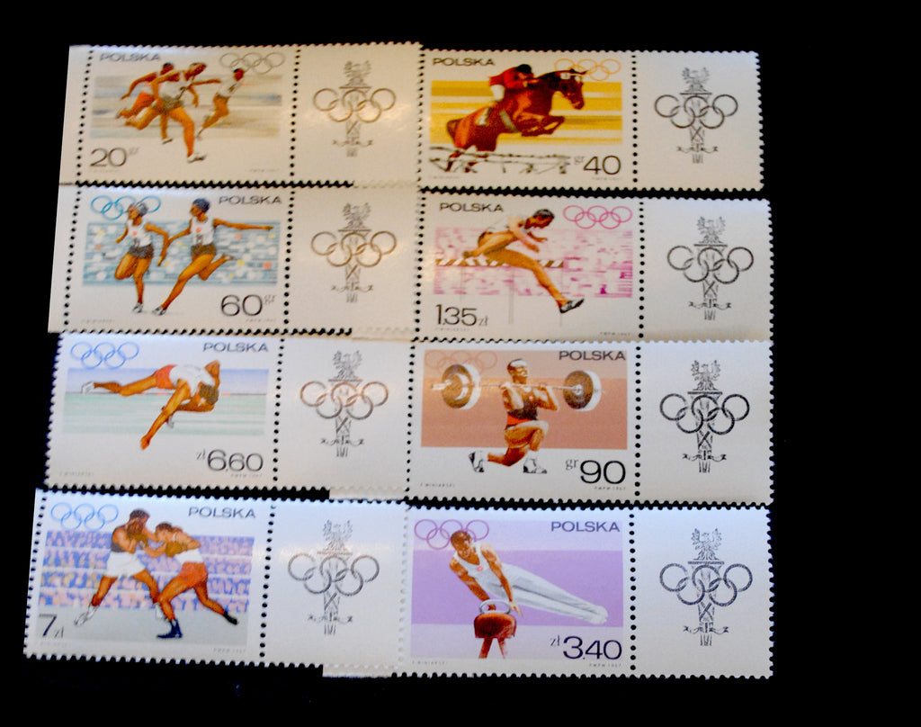 #1502-1509 Poland - 19th Olympic Games (MNH)