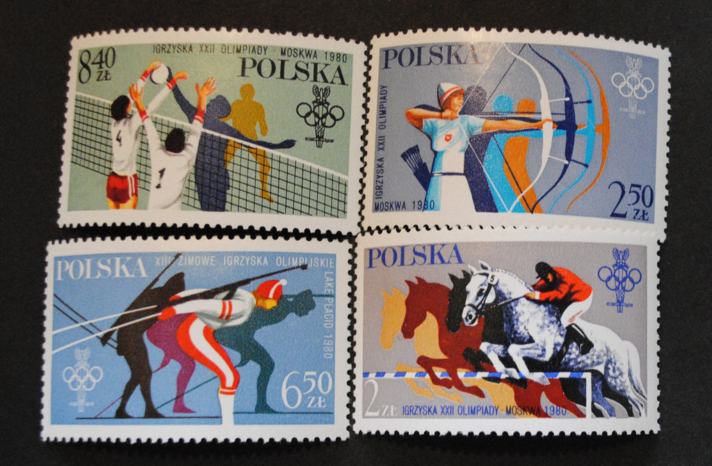 #2380-2383 Poland - 13th Winter Olympic Games (MNH)