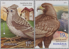 #6251-6252 Romania - 2019 Europa: National Birds (MNH)