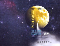 Poland - 2019 Moon Landing, 50th Anniv. S/S (MNH)