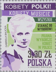 #4463 Poland - Women's Suffrage in Poland, 101st Anniv. (MNH)