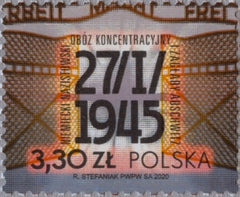 #4467 Poland - 2020 Liberation of Auschwitz, 75th Anniv. (MNH)