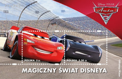 #4284 Poland - 2017 Disney's Cars 3 S/S (MNH)