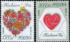 #3134-3135 Poland - 1993 Valentine's Day, Set of 2 (MNH)