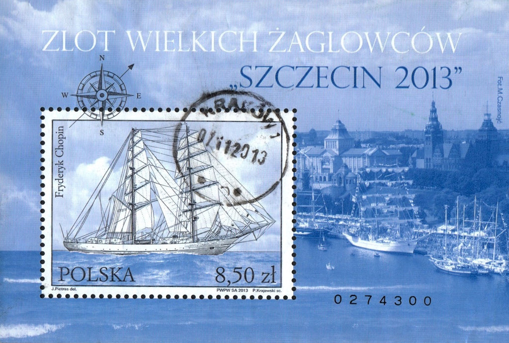 #4090 Poland - Szczecin 2013 Tall Ships Regatta S/S (Used)