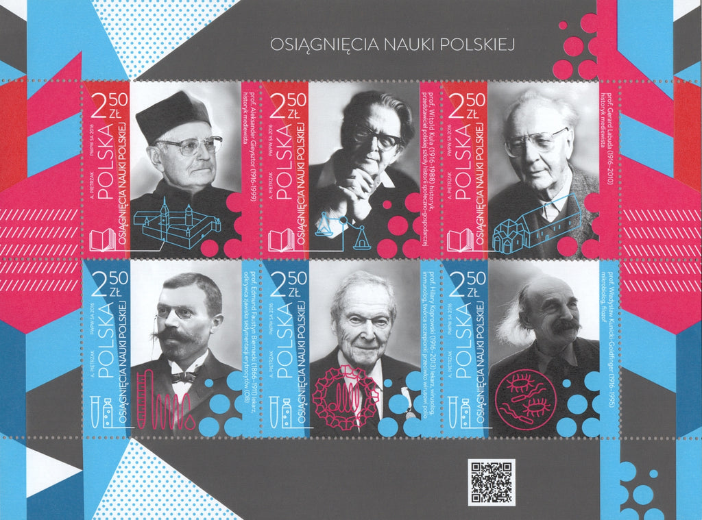 #4257 Poland - Historians and Scientists M/S (MNH)